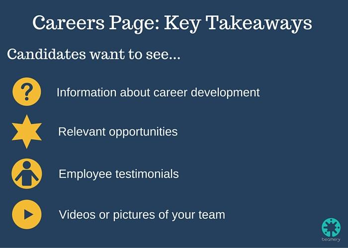 Careers Page- Key Takeaways